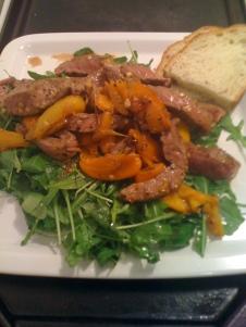 1009 Steak Salad at home