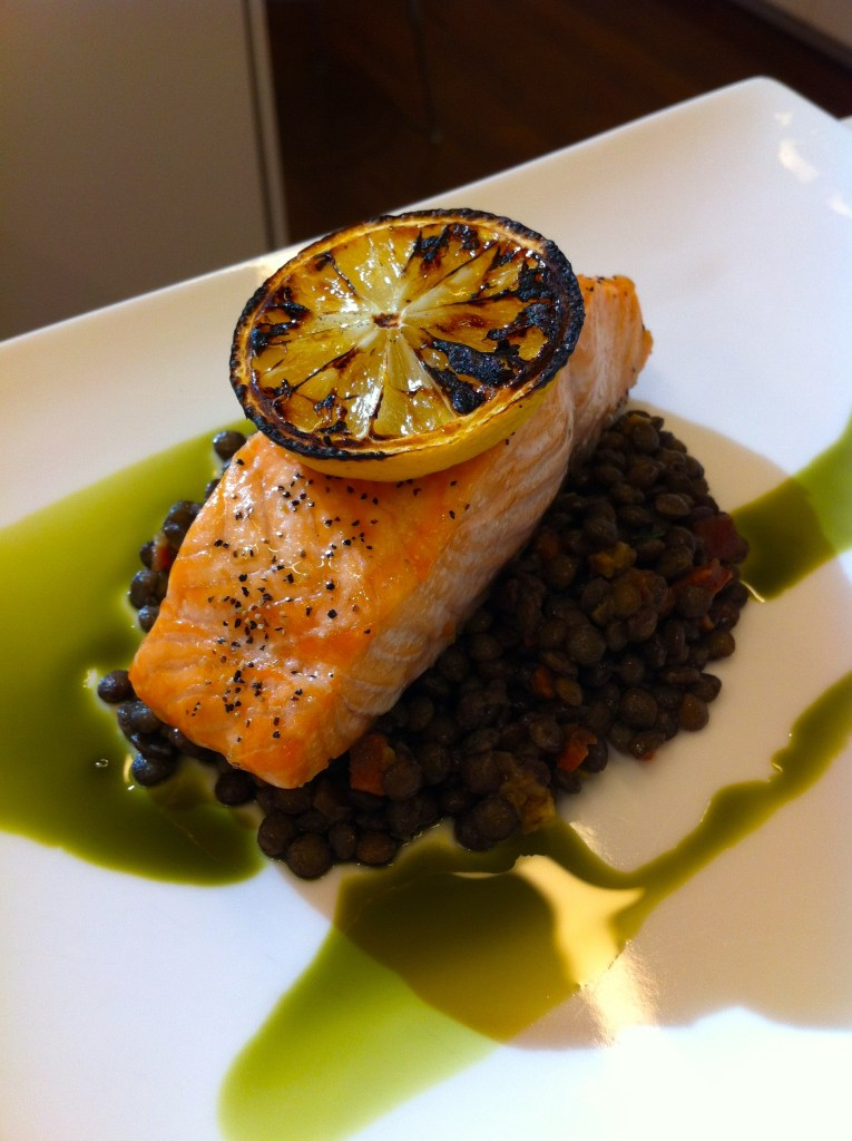Roast Salmon by Chef Annette Tomei
