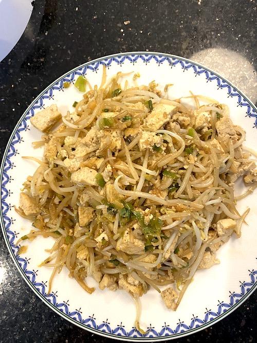 Pepper tofu noodles