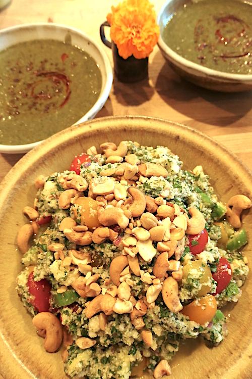 mango fonio salad