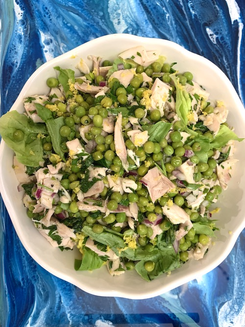 pea and rotisserie chicken salad