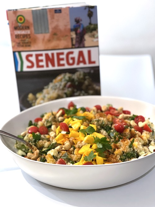 mango fonio salad from Senegal