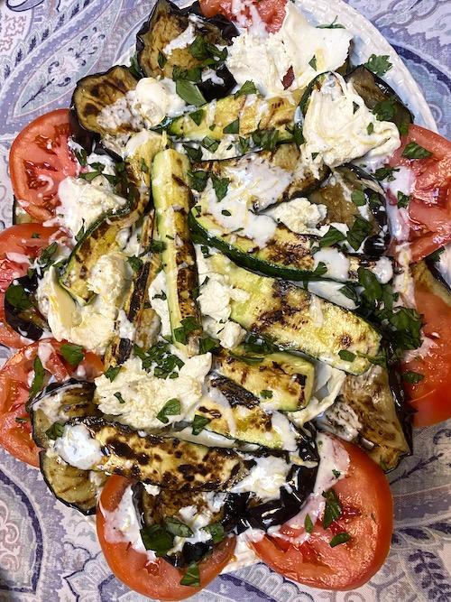 roasted eggplant and mozzarella