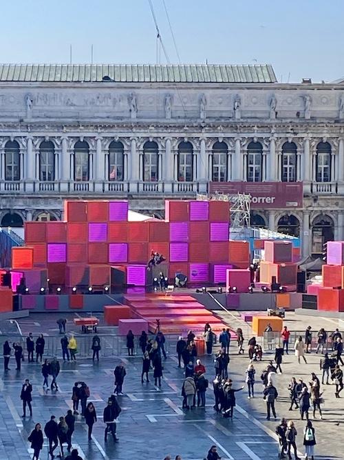 Piazza ready for Carnevale di Venezia 2020