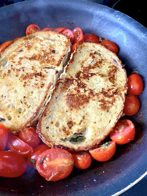 Cooking Savory French Toast