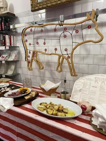 antica macelleria Cecchini cow